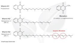 Struktuformel Vitamin K2